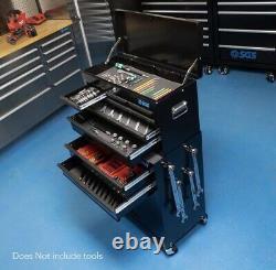 Prestige 8 Drawer Tool Box Chest & Roller Cabinet Storage Mechanic Organiser
