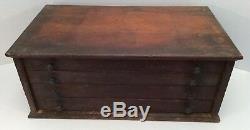 RARE Antique Vtg MORSE & CADILLAC GAGE CO Detroit Tap & Die Set 4 Drawer Cabinet