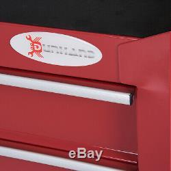 Roller Tool Cabinet 5Drawers Red Trolley Cart Storage Shelf Roller DIY Equipment