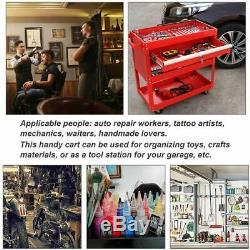 Rolling Steel Tool Cart Service Shop Storage Cabinet Organizer Lockable Drawer