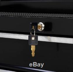 Rolling Tool Cabinet Secure Locking Box Storage Wheeled Cart Workbench Drawers