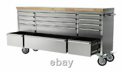SGS 72 Stainless Steel 15 Drawer Work Bench Tool Box Chest Cabinet