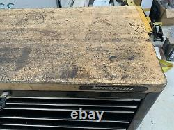SNAP ON USED BLACK TOOL BOX ROLL CAB CABINET 7 Drawers 40 Width WITH WORKTOP