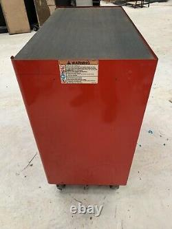 SNAP ON USED RED TOOL BOX ROLL CAB CABINET 7 Drawers 40 Width