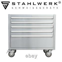 STAHLWERK workshop trolley tool cart chest box roller 4 drawers 1 big drawer