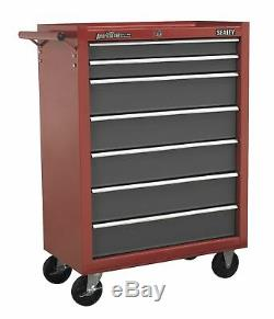 Sealey AP22507BB Rollcab 7 Drawer with Ball Bearing Runners Red/Grey