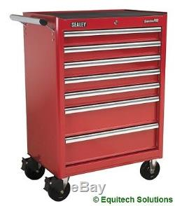 Sealey AP33479 7 Drawer Roll Cab Tool Box Red Ball Bearing Runners Slides New