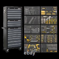 Sealey AP35TBCOMBO Tool Chest Combo, 16 Drawer, Black/Grey, 420pc Tool Kit