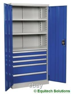 Sealey APICCOMBO5 Industrial Cabinet 5 Drawer 3 Shelf 1800mm Workshop Garage