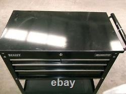 Sealey Heavy Duty Mobile Tool & Parts Trolley 4 Drawers & Lockable Top Black