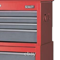 Sealey Heavy Duty Topchest & Rollcab 6 Drawers 75mm Castors Sliding Bearings