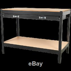 Sealey Metal Workbench with MDF Work Top & Drawer 1.21m