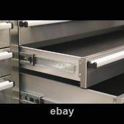 Sealey Mobile Stainless Steel Tool Cabinet 10 Drawer & Cupboard 1 Year Warranty