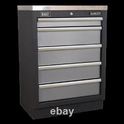 Sealey Modular Garage Workshop Tool Storage 680mm 5 Drawer Floor Cabinet APMS59