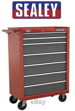 Sealey RED 7 Drawer Roll Cab Roller Cabinet Bottom Metal ToolBox Chest AP22507BB