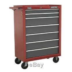 Sealey Rollcab 7 Drawer with Ball Bearing Runners Red/Grey Model No. AP22507BB