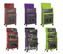 Sealey Tool Kit Storage Steel Rolling Drawers Garage Cabinet Workshop Cupboard