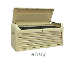 Sealey XL WIDE RETRO Cream 10 Drawer Tool Storage Roller Box/Chest AP41COMBO