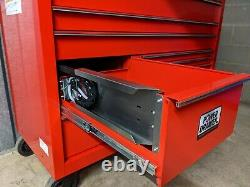 Snap On 55in KUK1422 Rollcab Tool Box Red Lock'N Roll Power Drawer NEW