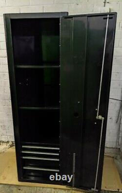 Snap On Black Locker Side Cabinet 4 Drawer Heritage Series