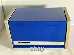 Snap-On Midnight Blue Miniature Mini Upper Top Tool Box Drawers Small Cabinet