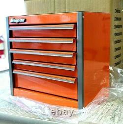 Snap-On New Orange Mini Bottom Tool Box 5 Drawers Base Cabinet Chrome Trim Micro