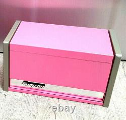 Snap-On New PINK Mini Upper Top Tool Box Drawers Base Cabinet Chrome Miniature