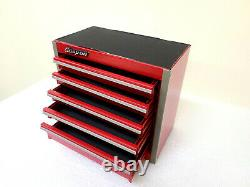 Snap-On New RED Mini Bottom Tool Box 5 Drawers Base Cabinet Chrome Trim Micro