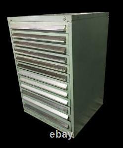 Stanley Vidmar 12 Drawer Industrial Tool Cabinet 30 X 27.5 X 44