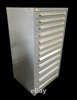 Stanley Vidmar 12 Drawer Industrial Tool Cabinet 30 X 27.5 X 59