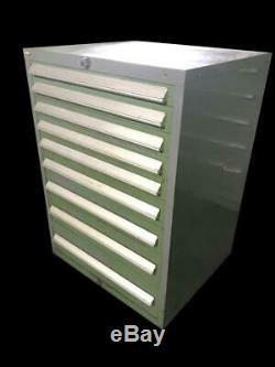 Stanley Vidmar 9 Drawer Industrial Tool Cabinet 30 X 27.5 X 44