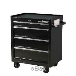 TOOL BOX CHEST Metal ROLLING CABINET 26-inch 4 Drawer Bottom Storage Workshop