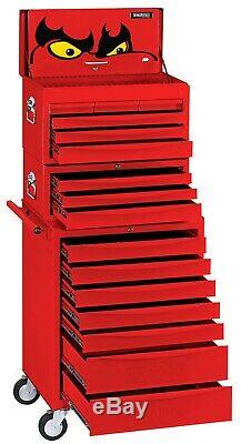 Teng TC816SV 16 Drawer Tool Chest and Roller Cabinet Stack