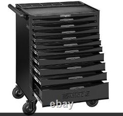 Teng Tools 10 Drawer Black Roller Cabinet With Ball Bearing Slides TCW810