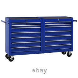 Tool Cabinet With Drawer Cart Wheel Trolley Tool Workshop Storage Chest ToolBox