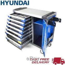 Tool Chest Hyundai 305 Piece XXL 7 Drawer Castor Mounted Roller Cabinet HYUNDAI