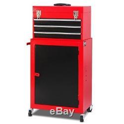 Tool Chest Toolbox Rolling Storage Cabinet 3 Drawers Metal Tool Box Mechanics
