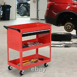 Tool Storage Cart Portable Workshop Trolley Cabinet Garage Supply Drawer Wheels