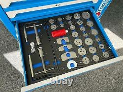 Tool Trolley Cabinet 7 Drawer with Tools Workshop Storage Chest Carrier ToolBox