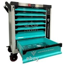 Tool Trolley Cabinet With Tools Workshop Storage Chest Carrier Toolbox Toolchest