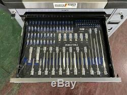 Tool Trolley Cabinet with 349 Tools Steel Workshop Storage Chest Carrier ToolBox