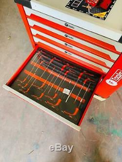 Tool Trolley Cabinet with 418 Tools Steel Workshop Storage Chest Carrier ToolBox
