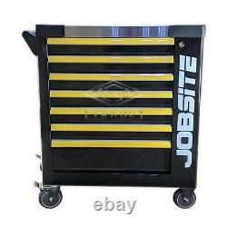 Tool Trolley Cabinet with Tools Steel Workshop Storage Chest Carrier ToolBox