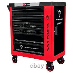 Tool Trolley Cabinet with Tools Steel Workshop Storage Chest Carrier ToolBox Red