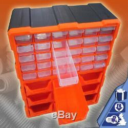 Toolbox 39 Drawer Storage Cabinet DIY Tools Organiser Case Bit Screws Bolt Multi