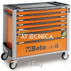 Trolley Chest of Drawers Tool Holder Mobile Beta C24SA-XL 7/0 Drawers 7 Orange