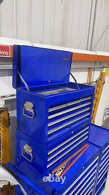 Us Pro Blue Tools Stacked Steel Chest Tool Box Roller Cabinet