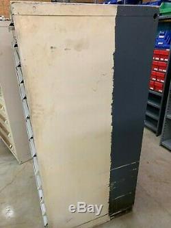 Used Stanley Vidmar 13 Drawer cabinet tool parts storage