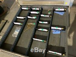 Used Stanley Vidmar style 16 Drawer cabinet tool parts storage