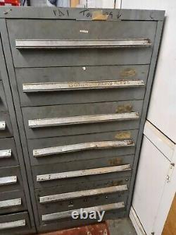 Vidmar 7 Drawer Tooling Cabinet For Milling Drilling Tools Workshop Storage